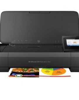Multifunción wifi portátil hp officejet 250 mobile aio - impresión sin bordes - scan 600ppp - batería - usb - cart 62 bk/color