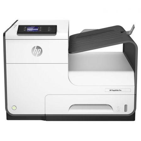 Impresora hp wifi con pagewide pro 452dw - 40/40 ppm -  duplex - usb - lan 10/100 - bandeja 500 hojas - cartuchos 913a/x