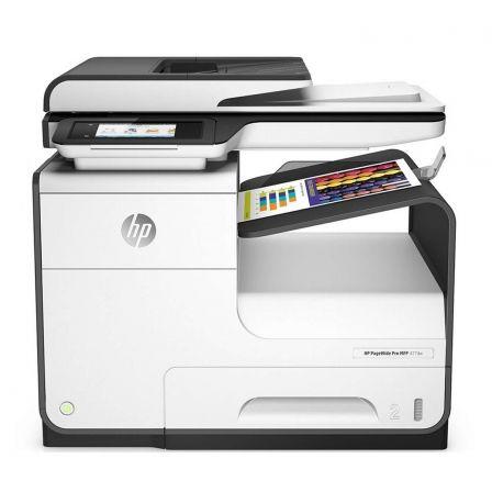 Multifunción hp wifi con fax pagewide pro 477dw - 40/40 ppm -  duplex - scan doble cara - adf - usb - pantalla táctil -