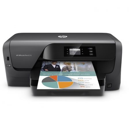 Impresora hp wifi officejet pro 8210 - 22/18 ppm iso - 1200x1200ppp - duplex - eprint/airprint - usb2.0 - ethernet - cart. 953