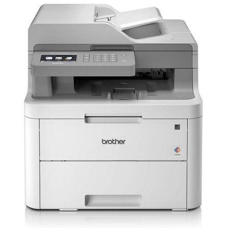 Multifunción brother wifi láser color dcp-l3550cdw - 18ppm - duplex - scan 1200*2400ppp - bandeja entrada 250 hojas - lan - lcd