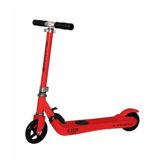 Patinete eléctrico scooter infantil Olsson Fun Rojo - ruedas 5' - motor 100w - display - bat 22v/2ah - plegable