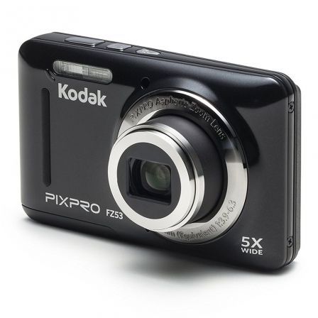 Cámara digital kodak pixpro fz53 negra - 16mpx - lcd 2.7'/6.82cm - zoom 5x opt - angular 28mm - vídeo hd 720p - usb 2.0 -