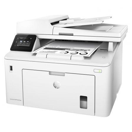 Multifunción hp wifi con fax láser mono pro m227fdw - 28ppm - 1200x1200 - duplex - scan 1200ppp - adf - lan - usb - bandeja