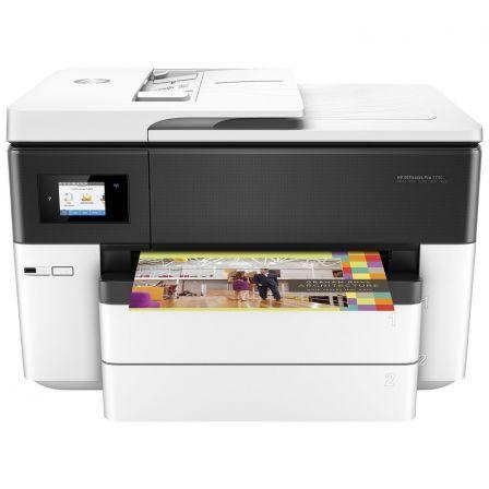 Multifunción hp wifi con fax officejet pro 7740 - a3 - 34/34ppm a4 borrador - duplex - scan doble cara - adf - 2xusb - lan - 2