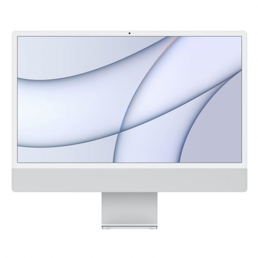 Apple iMac Apple M1 8GB 256GB SSD 24' 4.5K Retina CPU 8 Núcleos/GPU 8 Núcleos Plata