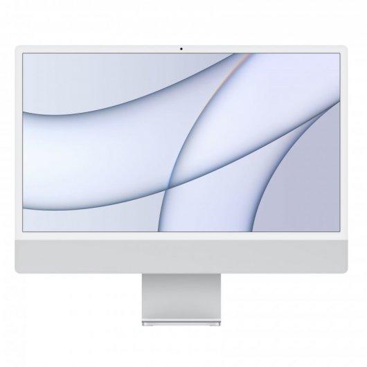 Apple iMac Apple M1 8GB 512GB SSD 24' 4.5K Retina CPU 8 Núcleos/GPU 8 Núcleos Plata