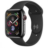 Apple watch series 4 gps  cellular 40mm caja acero inoxidable negro espacial con correa deportiva ne