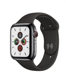 Apple watch series 5 gps cell 44mm caja acero negro espacial correa negra deportiva - mwwk2ty/a