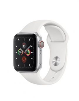 Apple watch series 5 gps  cell 40mm caja aluminio plata con correa blanca deportiva - mwx12ty/a