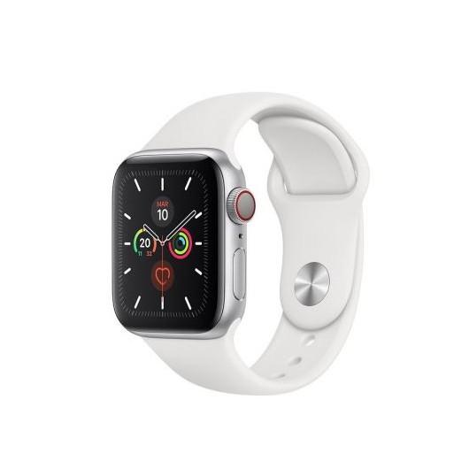 Apple watch series 5 gps  cell 40mm caja aluminio plata con correa blanca deportiva - mwx12ty/a