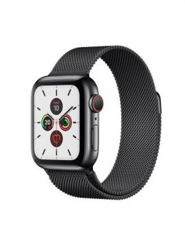 Apple watch series 5 gps cell 40mm caja acero negro espacial correa negra deportiva - mwx82ty/a