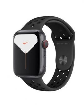Apple watch nike series 5 gps  cell 44mm caja aluminio gris espacial con correa antracita/negra nike