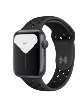 Apple Watch Nike series 5 gps 44mm caja aluminio gris espacial correa antracita/negra nike deportiva