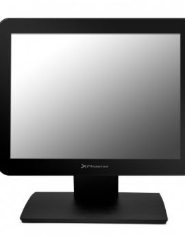 "Phoenix PHTOUCHVIEW15 Monitor 15"" tactil TPV capacitivo LCD LED negro - angulo ajustable hasta 80º - soporte metalico"