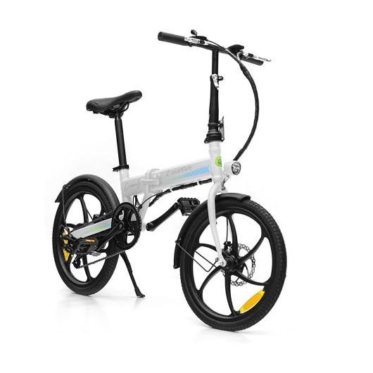 Bicicleta eléctrica SmartGyro eBike Crosscity White - plegable - motor brushless 250w - ruedas 20' - 6 velocidades shimano - frenos disco