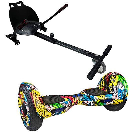 Kit Hoverboard Smartgyro XL1 Street + Go Kart Pro Black - 700w 15km 12kmh 13kg 100kg