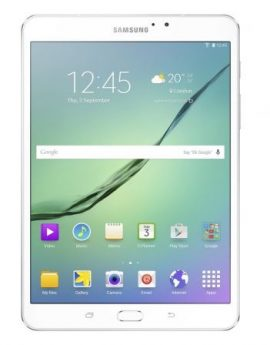 Tablet samsung galaxy tab s2 white - oc 1.8ghz+1.4ghz - 32gb - 3gb ram - 8'/20.31cm 2048x1536 - android 6.0 - bt4.1 - dual cam