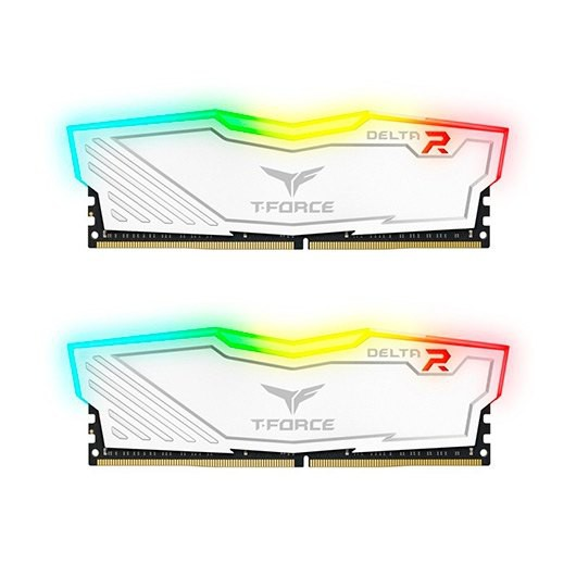 TeamGroup Delta White RGB DDR4 3200 PC4-25600 32GB 2x16GB CL16