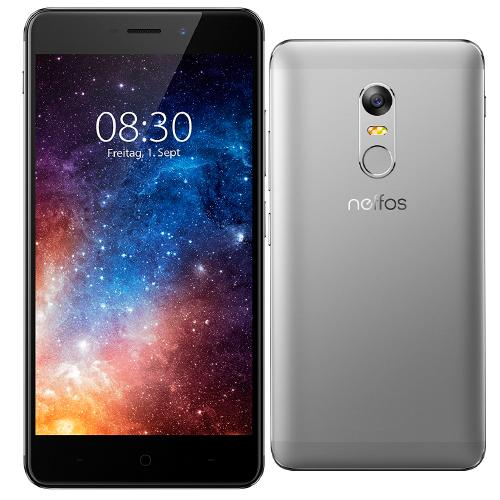 Smartphone Neffos 4g X1 5 Octacore Hlio P10 16gb 2gb Dual Sim Bt Lector Dactilar Radio Camara 13mp Frontal 5mp Microsd Color Gris Oscuro