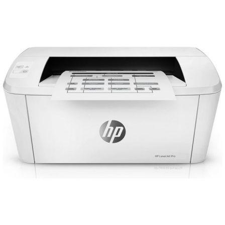 Impresora hp wifi láser pro m15w - 18ppm - 600x600 - usb 2.0 - bandeja entrada 150 hojas - airprint - toner cf244a