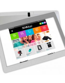 Tablet Billow 10.1 Pros+ Hd Ips 1280x800 Quad Core 64bits 32gb 2gb Ddr3 Gps Radio Wifi Dualband Android 8.1 Doble Camara 2 / 5mp Color Plata Y Blanc