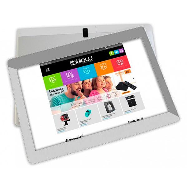 Tablet Billow 10.1 Pros+ Hd Ips 1280x800 Quad Core 64bits 32gb 2gb Ddr3 Gps Radio Wifi Dualband Android 8.1 Doble Camara 2 / 5mp Color Plata Y Blanc