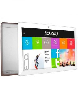 Tablet Billow 10.1 Lcd Hd Ips 1280x800 3g Dual Sim Quad Core 1.2ghz 32gb 2gb Ddr3  Wifi Android 8.1 Doble Camara 2 / 5mp Color Blanco/plata Bat 5000m
