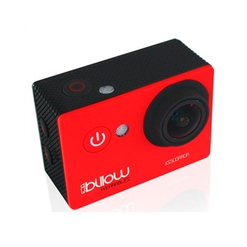 Camara Deportiva Billow Xs600 Pro Lcd Hd 2 16mpx Real 4k  Wifi  170º Angulo  Bateria 1050mah Microsd Sumergible 30m Color Roja